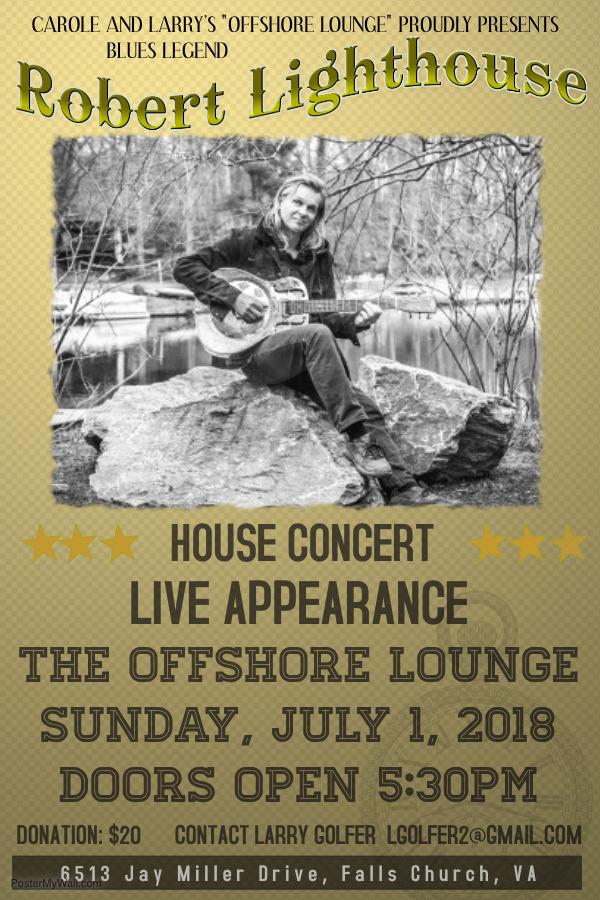 Robert Lighthouse Concert Poster